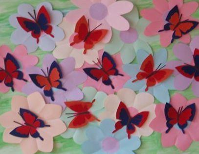 Бабочки своими руками из цветной бумаги на стену